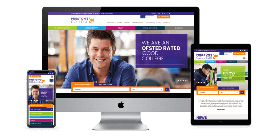 New website for one of the UK's largest, most successful colleges