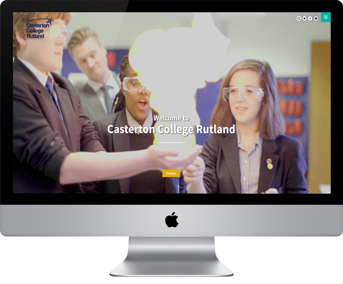 Video based website for Casterton College
