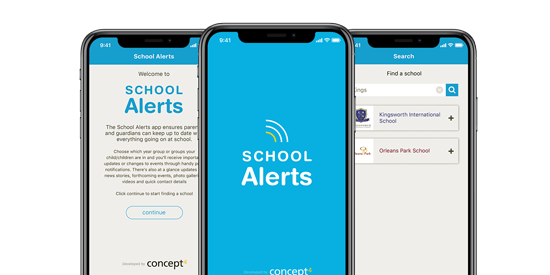 Enhance communications with a school app