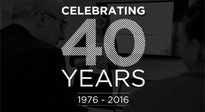 We're celebrating 40 years in business!