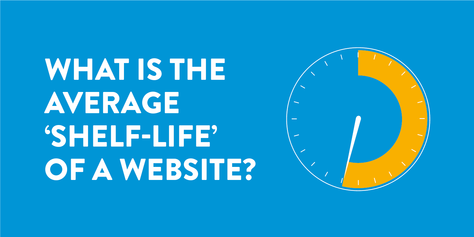 What is the average 'shelf-life' of a website?