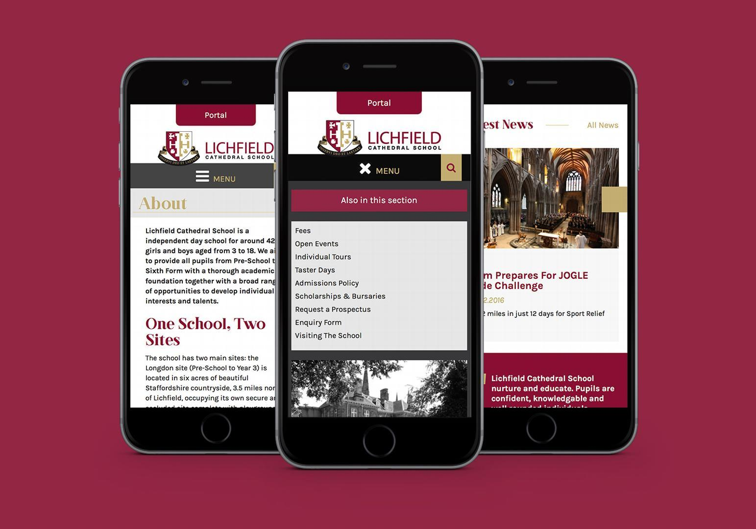 School website for Lichfield Cathedral School