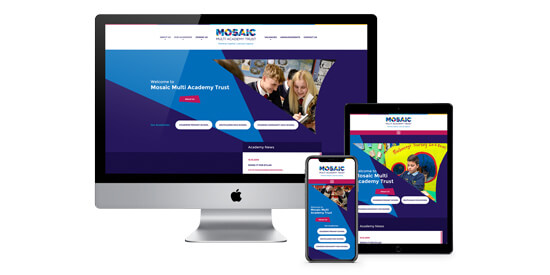 Mosaic Multi-academy Trust branding and website package