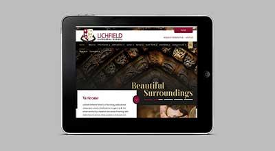 Creating a Website by Numbers for Lichfield Cathedral School