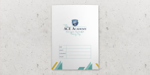 Branded exercise books for your school